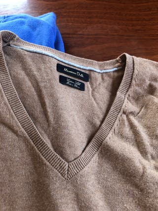 Jersey de caballero color marrón