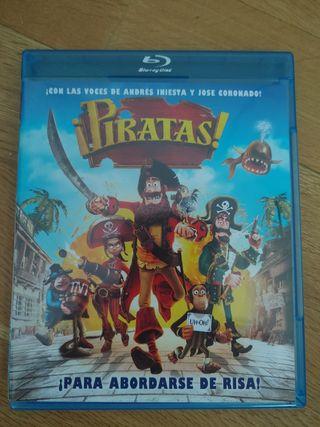 Pelicula Bluray + DVD Piratas dibujos animados