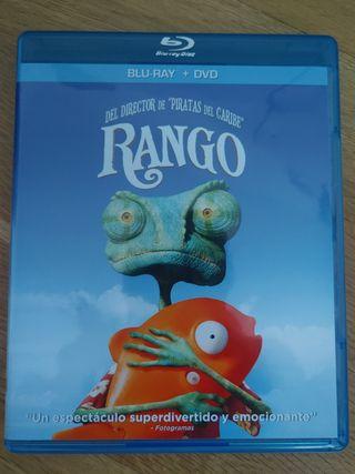 Película Bluray + DVD Rango Dibujos animados