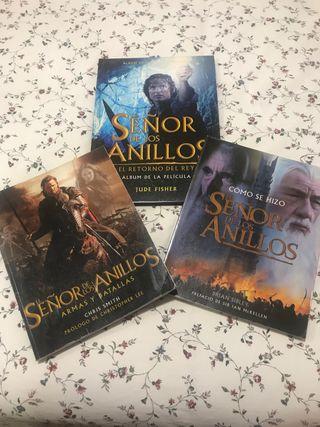 Tres libros de El señor de los Anillos