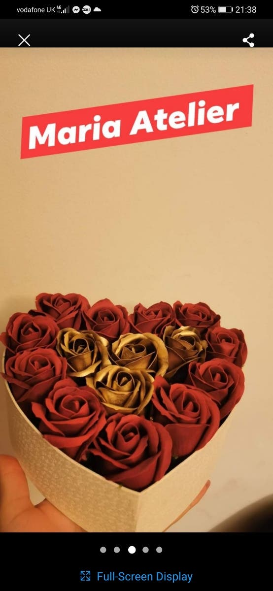 Perfect gift soap roses
