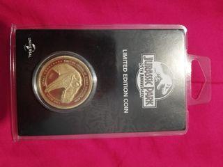 moneda edicion oro Jurassic Park