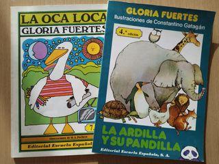 Dos libros de Gloria Fuertes con ilustraciones