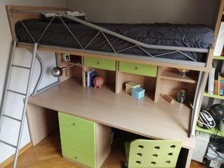 Cama Litera con escritorio,TRANSPORTE INCLUIDO