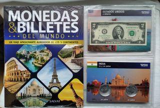 colección monedas y billetes del Mundo