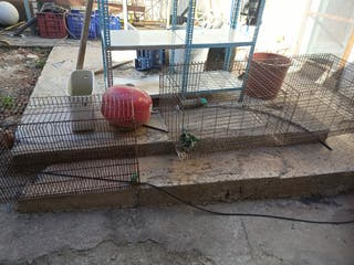 jaula conejera o para gallinas