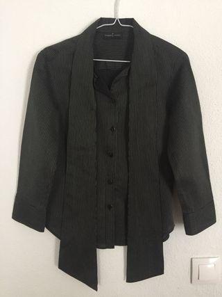 Camisa rayas gris Roberto Verino 36