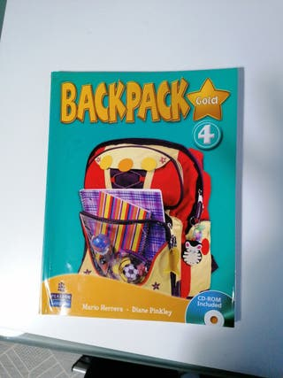 Libro inglés 4 primaria Backpack Gold Ed. Pearson