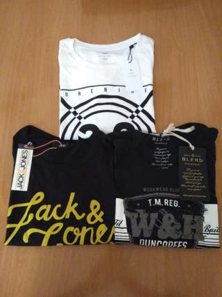 Lote 3 camisetas T-XL
