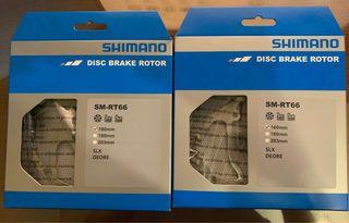 Discos de freno shimano nuevos