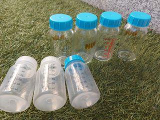 4 Biberones cristal NUK (regalo 3 de plástico)