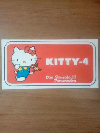 KITTY-4 TIENDA 1986 PEGATINA PONTEVEDRA