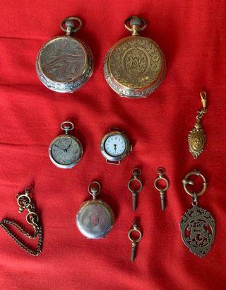 Lote 29 reloj Bolsillo Antigüedades Plata