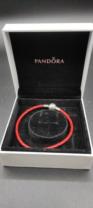 Pulsera cuero moments Pandora roja 20cm