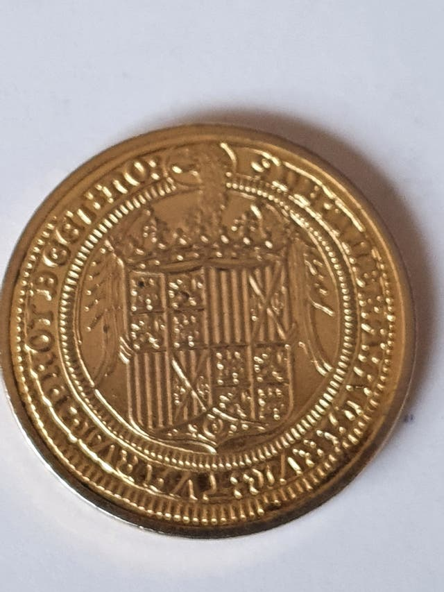 Coin of the Catholic Monarchs, Spain