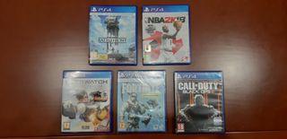 Pack de 5 juegos para PS4