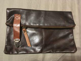 Cartera/bolso de mano de piel
