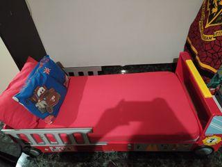 Cama Infantil Camión de Bomberos
