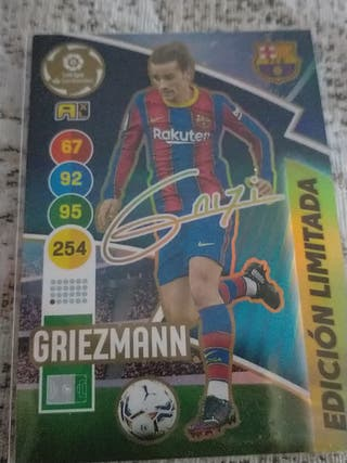 Adrenalyn Griezmann firmado edición limitada