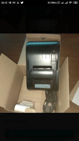 Impresora de tiquets de caja.