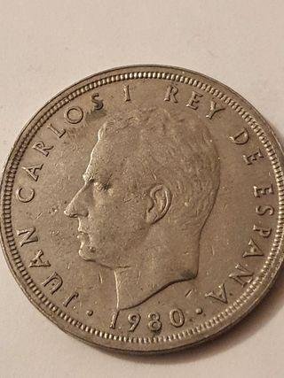 50 peseta coin 1980 Mondial '82