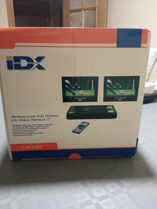 reproductor DVD portátil doble pantalla 7