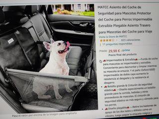 Asiento seguridad para perros
