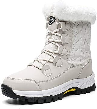 AONEGOLD Mujer Botas de Nieve Impermeable Zap