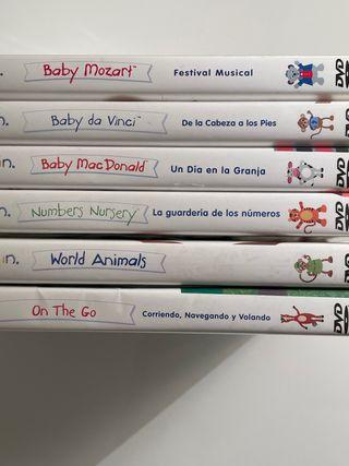 DVDs Baby Einstein en 4 idiomas