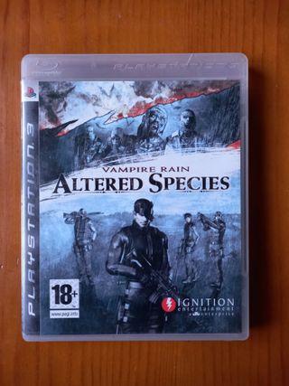 Altered species Vampire rain ps3