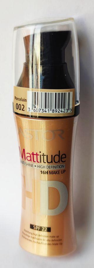 MAQUILLAJE MATIFICANTE ALTA DEFINICION ASTOR MATE