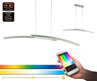 1x Lámpara techo LED 34W EGLO FRAIOLI-C RGB bluet.