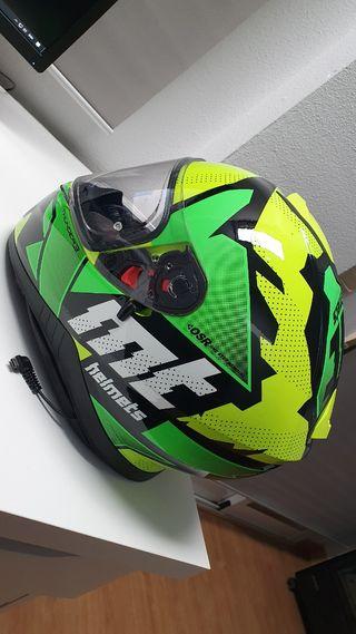 casco de moto , mt thunder 3 torn(M)