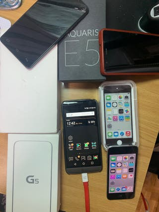 Oneplus 5t, ipod touch 5, LG G5...