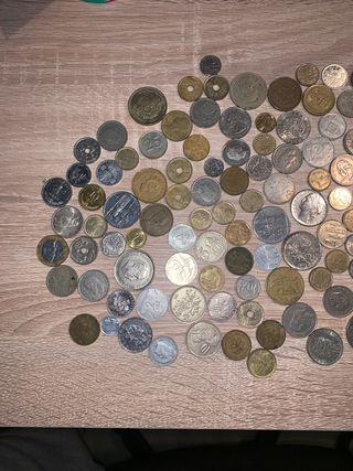 Lote monedas extranjeras y antiguas