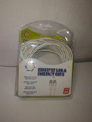 cable de red Ethernet cat-5 - 20 metros