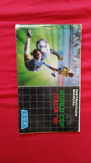 Manual World cup Italia 90 megadrive