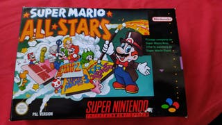 Super Mario all stars snes caja