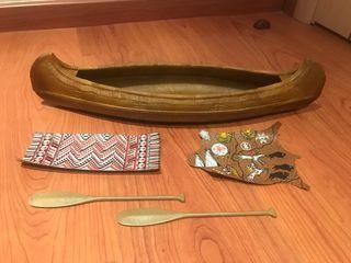 Canoa Manta y Alfombra del Geyperman Indio