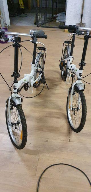bicicletas plegables con su funda