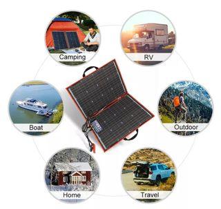 kit panel solar portatil 110w