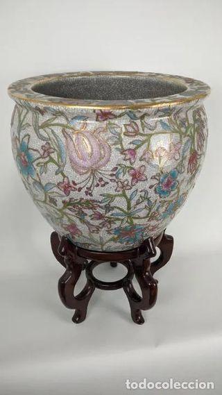 Gran jarrón Satsuma. Interior decorado