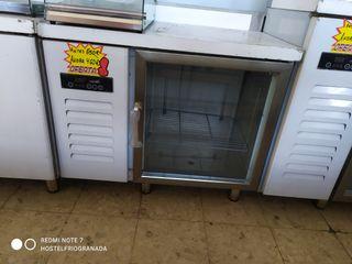 bajo mostrador refrigerado 1 puerta de cristal