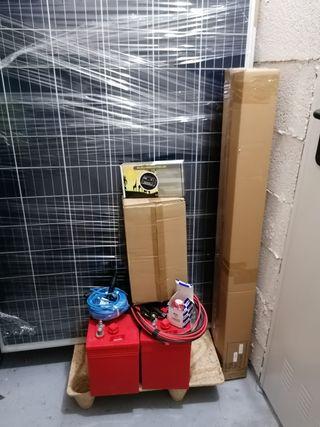 Kit Solar 2KW/dia 3placas 2 bat 290Ah Inversor 2KW