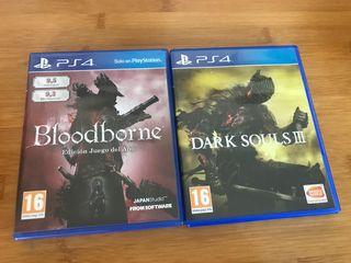 Bloodborne + Dark Souls 3 ps4