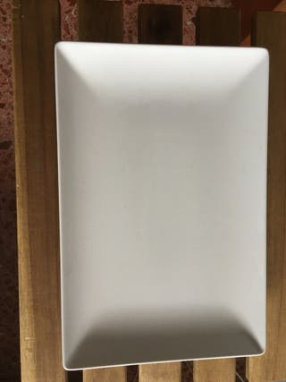 Platos rectangular blanco 20x30cm