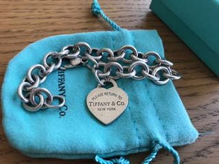 Pulsera Tiffany & Co original charm corazón