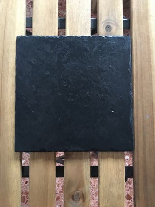 Plato pizarra negra cuadrada 20x20