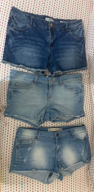 Pack shorts denim zara y easy wear talla 40