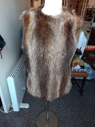 chaleco de mujer de pelo original zorro